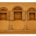 """3 Windows"" Studio Carving, David Alan Original Design"