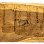 """Log Huts"" Studio Carving, David Alan Original Design"