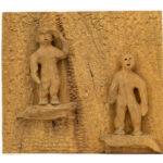"""Clay People"" Studio Carving, David Alan Original Design"