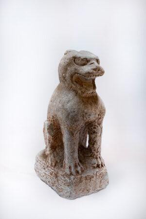 Ming Dynasty Stone Guardian Lion (Foo Dog)