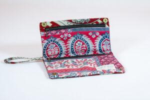 Vintage Kimono Fabric Accessories Clutch Purse of Vintage Kimono Fabric David Alan Designs
