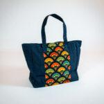 David Alan Designs Tote Bag of Vintage Kimono Fabric.