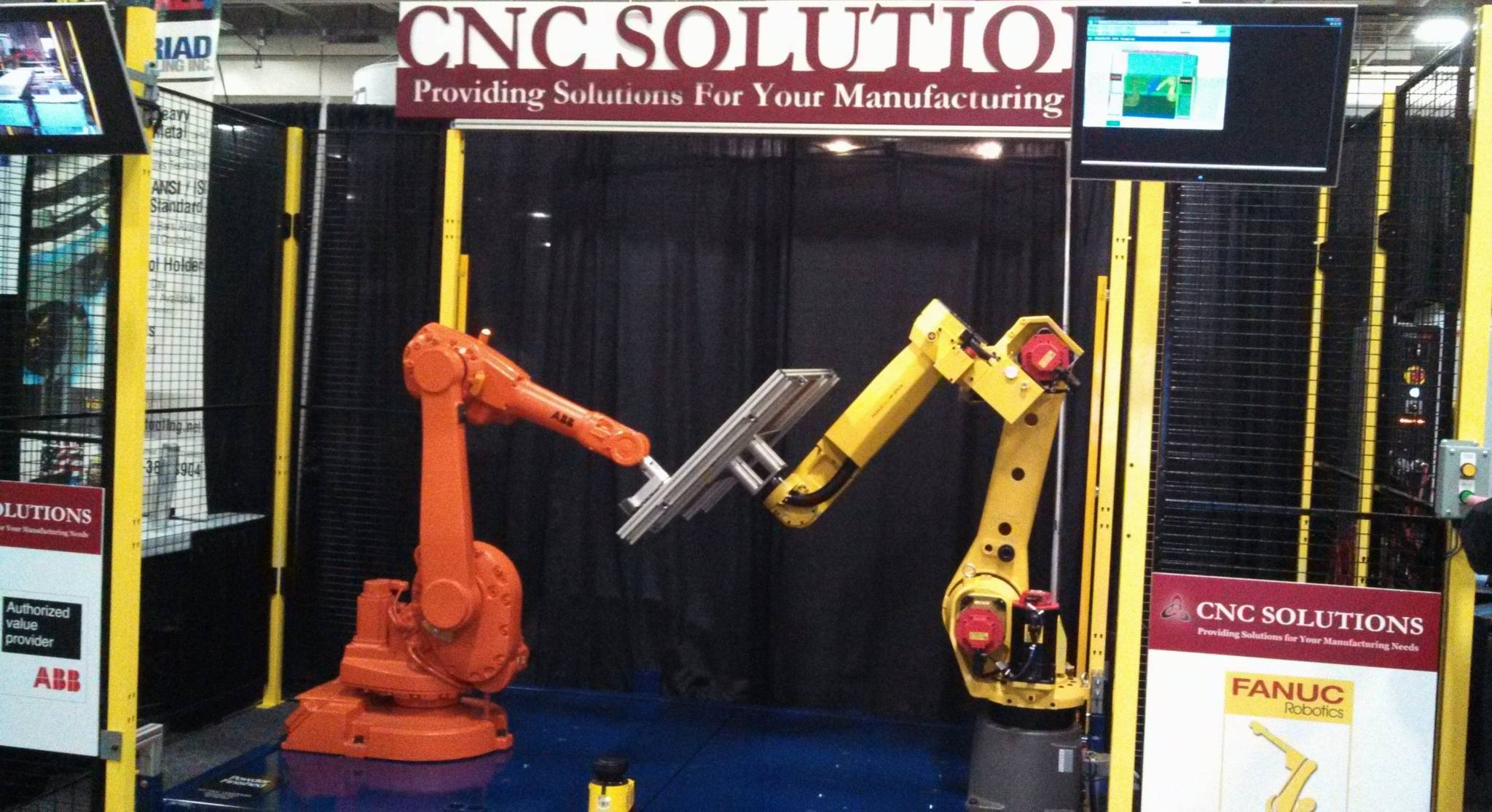 CNC Solutions 2013 Wisconsin Manufacturing & Technology Show booth.