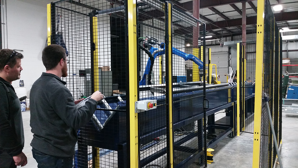 A Fanuc Arc Mate robot installed by CNC Solutions