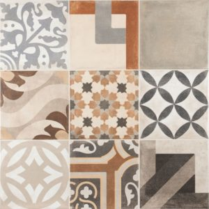The Unique Mix Floor or Wall Tile has a unique multi-functional appearance with a smooth satin finish