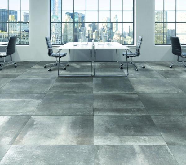 Celestial Steel 90cm x 90cm Lappato Floor & Wall Tile