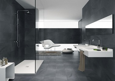 Abyss Anthracite 35.5cm x 71cm Wall or Floor Tile