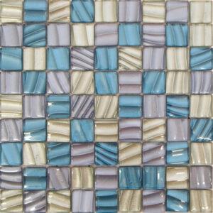 Ripple Azul Glass Mosaic Tile Sheets