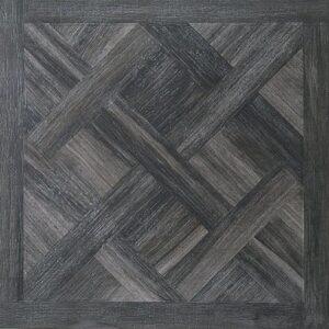 Kouros Black 75cm x 75cm Wood Effect Wall or Floor Tile
