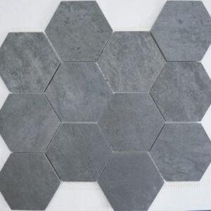 Zahara Anthracite Hexagon Porcelain Mosaic