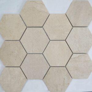 Zahara Beige Hexagon Porcelain Mosaic