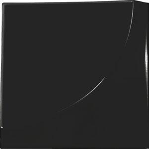 Retro Black Gloss 3D 15cm x 15cm Wall Tile