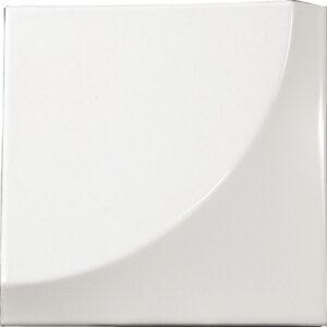 Retro Gloss White 3D 15cm x 15cm Wall Tile