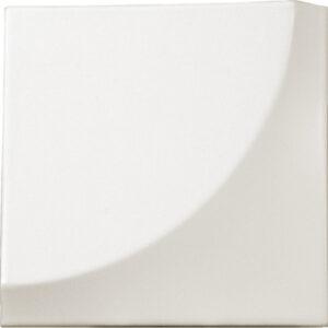Retro Matt White 3D 15cm x 15cm Wall Tile
