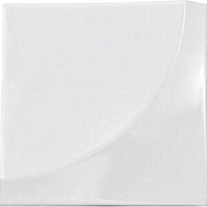 Retro Pearl White 3D 15cm x 15cm Wall Tile