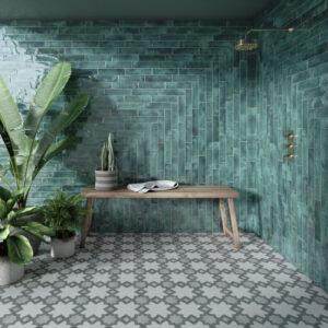 Verona Emerald 7.5cm x 30cm Wall Tile