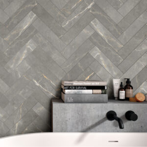 Astro Grey 8cm x 33.3cm Wall or Floor Tile