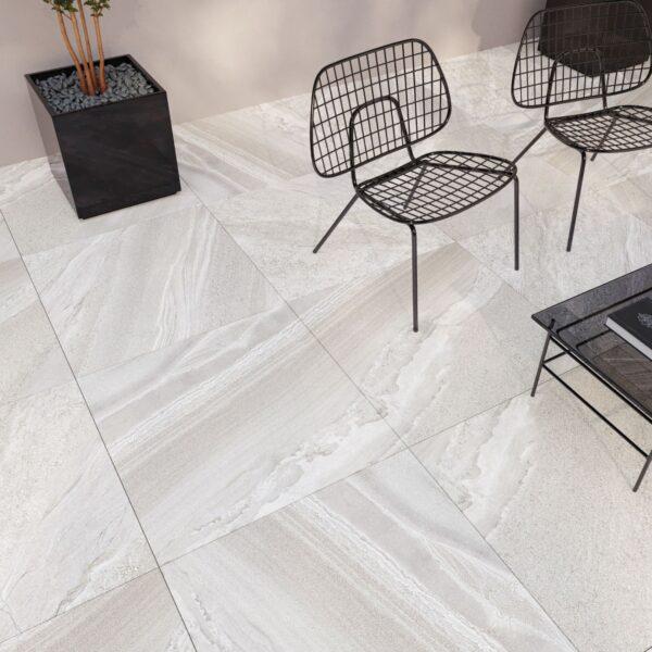 Monteray White 60cm x 60cm Polished Floor & Wall Tile