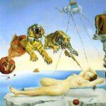 Salvador-Dali-Oil-Painting-Dream-Bee-Pomegranate-Flight