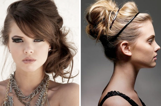 Lots of messy hairstyle ideas!