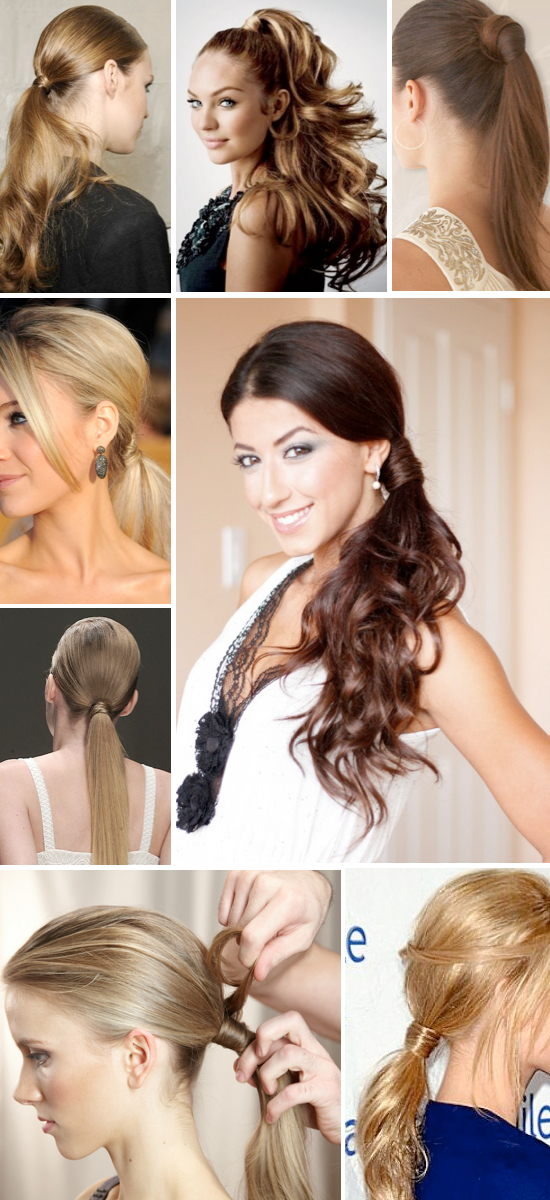 Lots of cute ponytail hairstyle ideas!