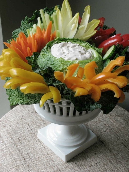 creative vegetable party trays