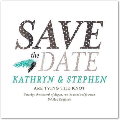 feather save the dates