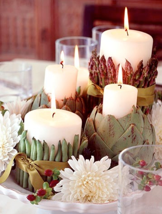 how to make veggie table centerpieces