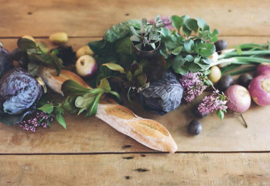 wedding table centerpieces with vegetables