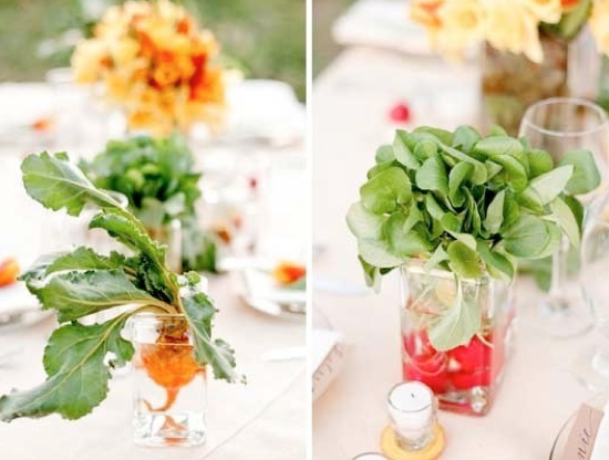 vegetable table decorations for wedding