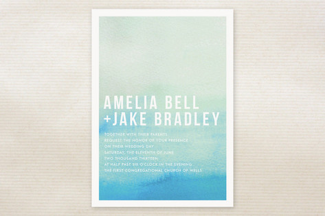 ombre wedding stationery watercolor