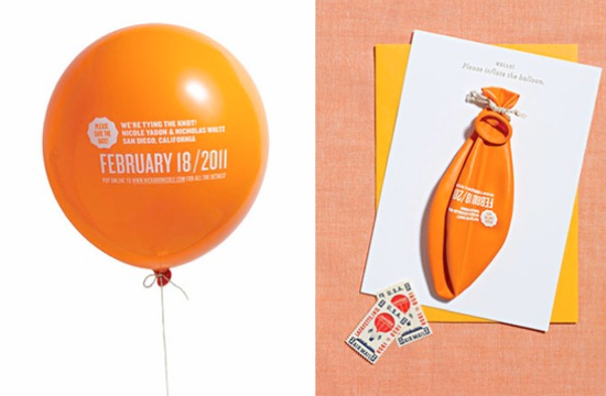 save the date ideas using balloons