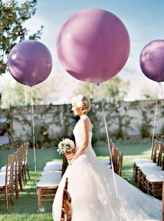 wedding balloon decorations for the aisle