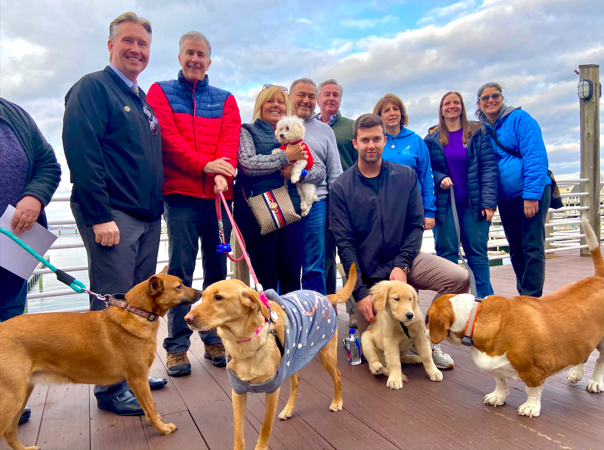 Victory Point's second annual Parade of Puppies kicks off Super Sunday celebration on the Boston waterfront