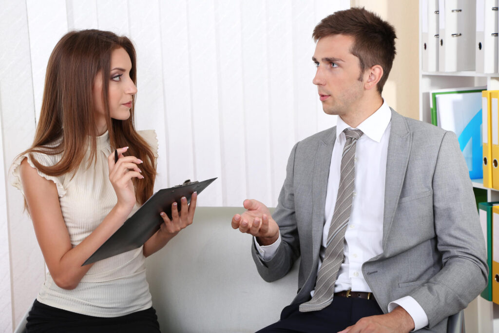 discussing Insurance Business for Sale