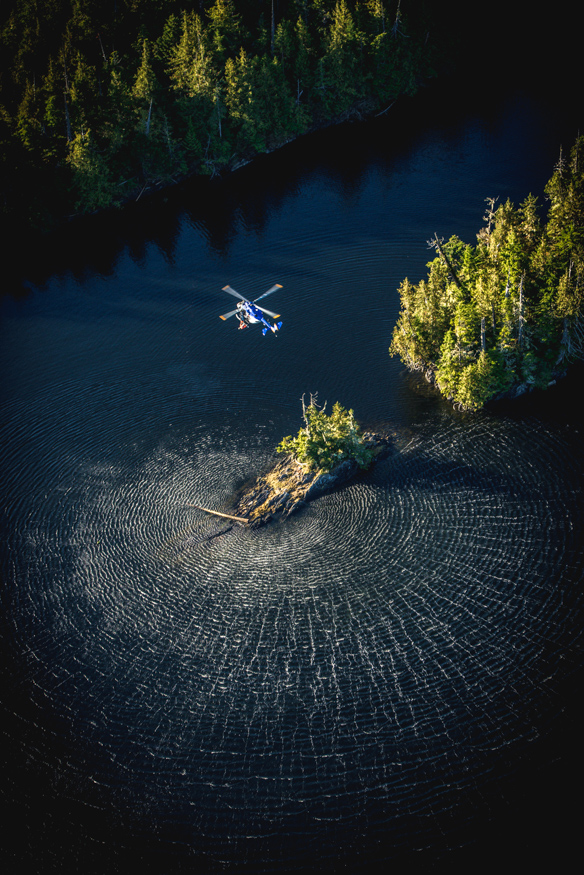 Helicopter wash
