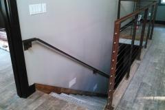 2-Stair-Railing-galvanized steel steps-looking-down-RAW Metal Works