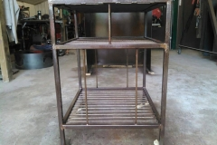 Side view metal cart-RAW Metal Works