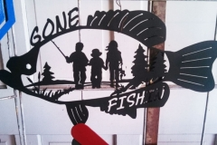 Gone-Fishing-Sign-RAW Metal Works