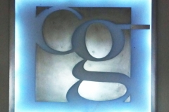 Lighted-initial-sign-RAW Metal Works