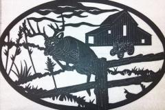 Oval-Deer-Sign-RAW Metal Works