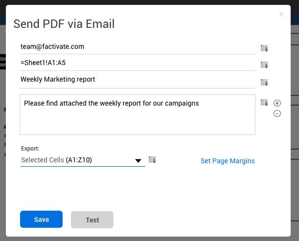 send pdf from spreadsheeet