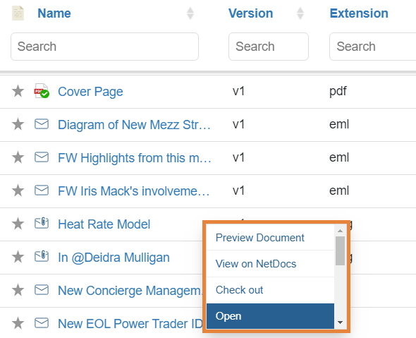 netDocShare enables to open any NetDocuments content within SharePoint