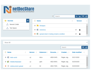 netDocShare enables to view multiple webparts