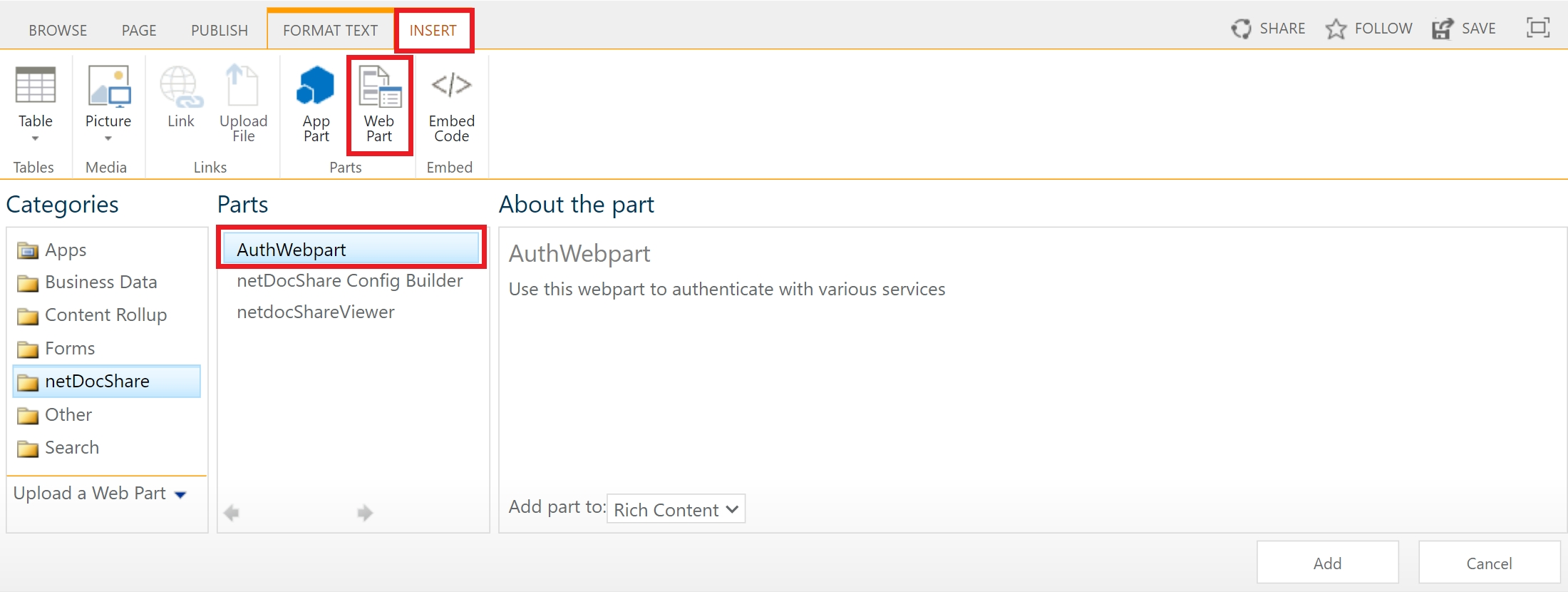 classic_page–adding_the_netdocshare_webparts