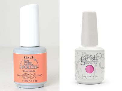 Acrylic gel shellac gel polish nails