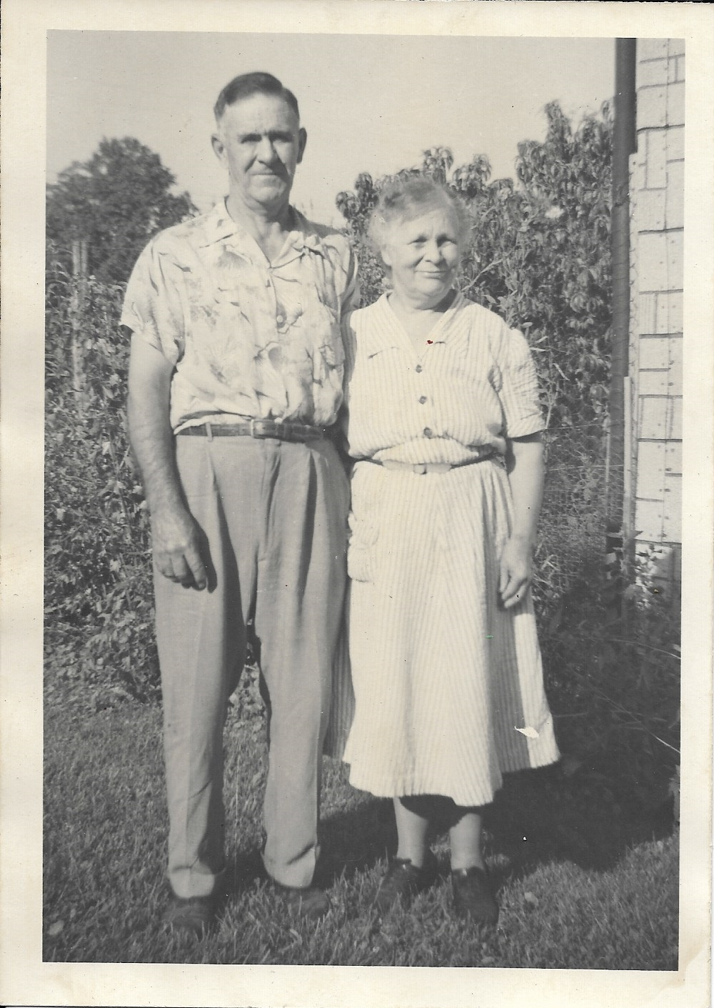 My great-grandmother Idella with her husband Harold