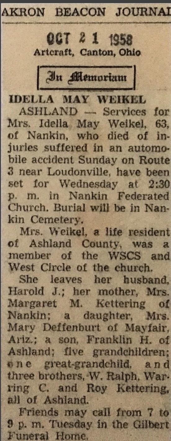 Idella's Obituary