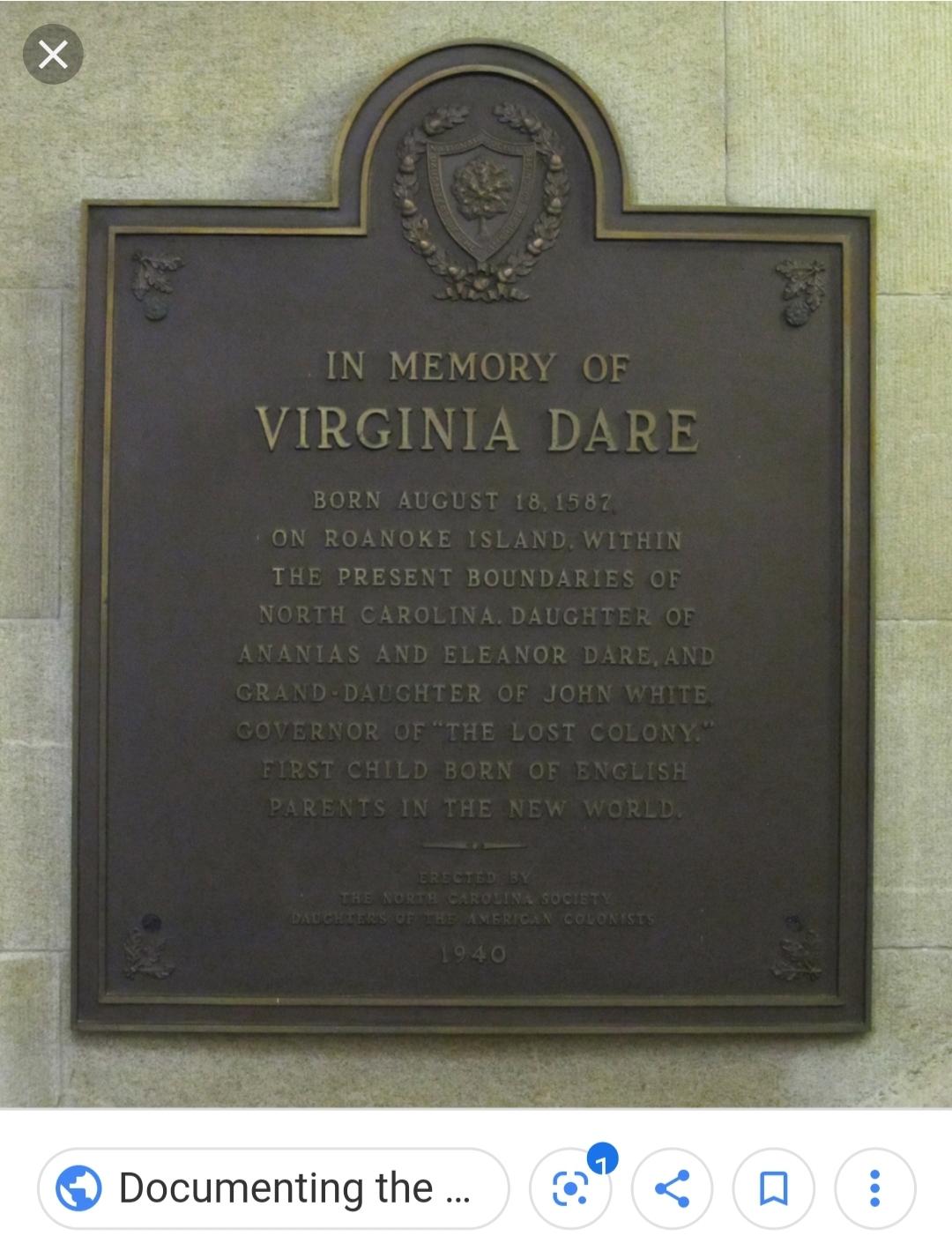 Memorial Plaque for Virginia