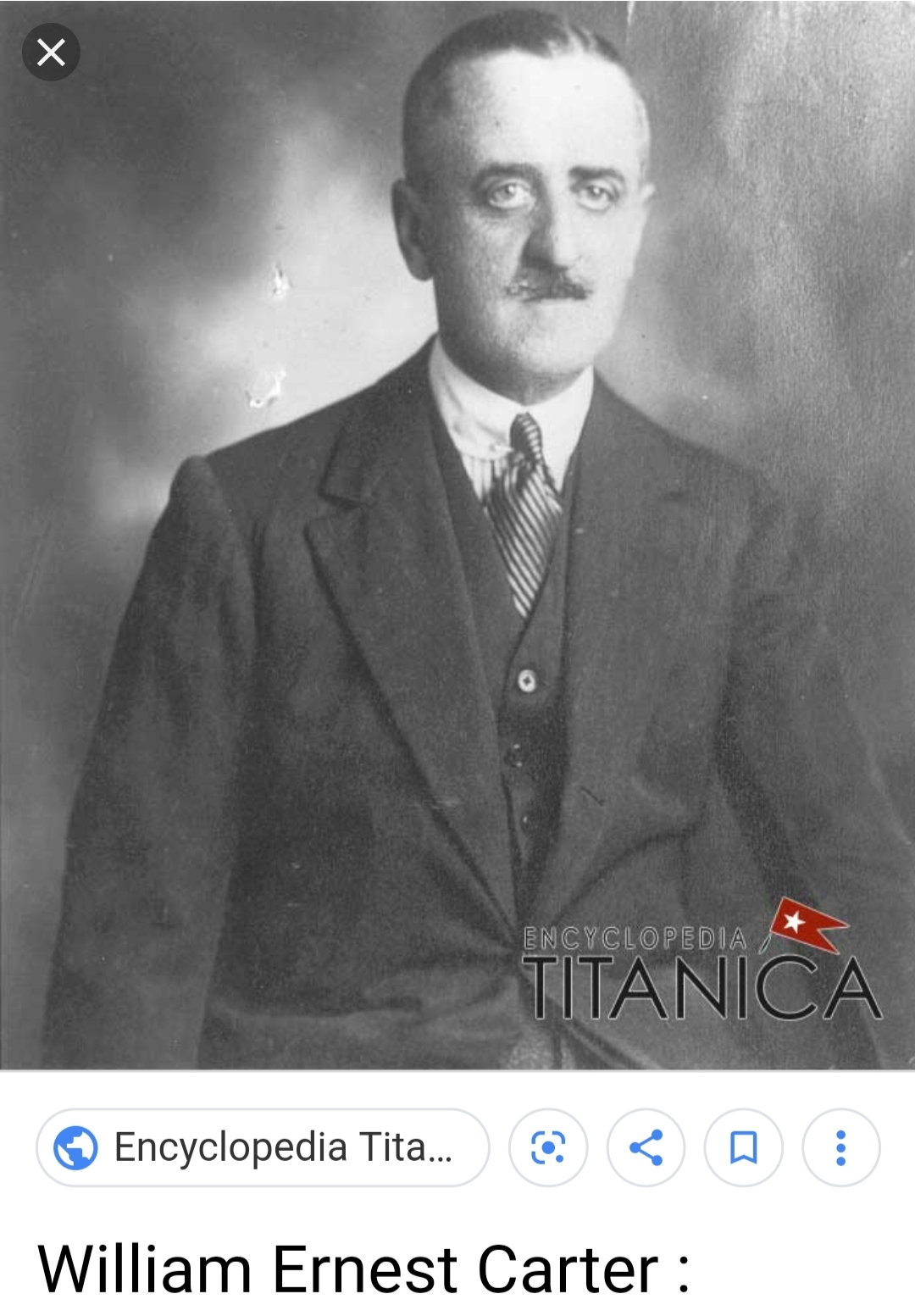 Courtesy of Encyclopedia Titanica